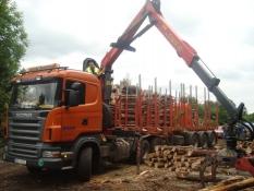 Doprava dřeva Scania R500
