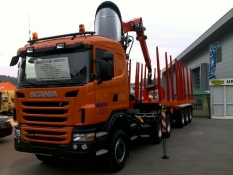 Doprava dřeva Scania R440
