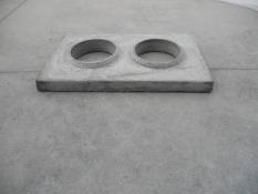 Krycia betónová doska dvojkomín - A6CPB2