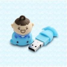 Silicon Power Unique 520 - 4GB USB kľúč postavička, modrý