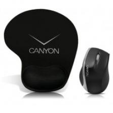 Canyon Pack optická myš MS01 + ergonomická podložka, čierno-strieborná