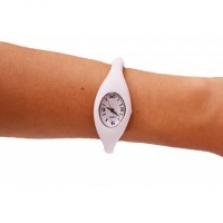 Silikónové hodinky ION Analog - biele