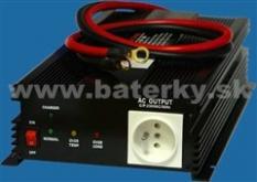 Menič napätia z 12V na 230V 2500W + dobíjačka akumulátorov
