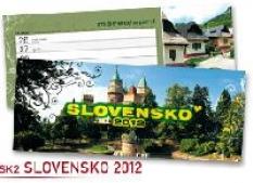 Kalendár stolový Slovensko 2012