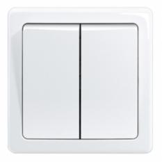vypínač č.5, biely, béžový, slonovinový, šedý, krémový, hnedý,10A, IP20,3557G-C05340 B1
