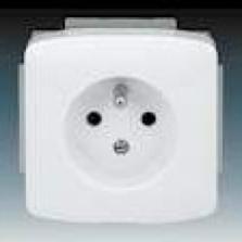 biela zásuvka komplet bez rámika, 230V, 16A, IP20, 5518A-A2349 B