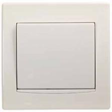 vypínač č.1, biely, 230V, 10A, IP20, AYA0100321