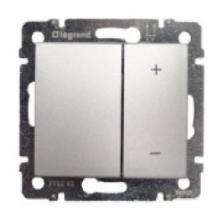 stmievač tlačidlový 40W-400W, 250V pre žiarovky,10A,IP20 hliník, 770262