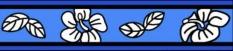 Vodítko so vzorom malé 1,2m Hybiscus - Blue