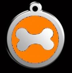 Známka veľká Kosť - oranžová