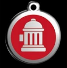 Známka veľká Hydrant - červená