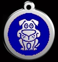 Známka stredná Pes - modrá