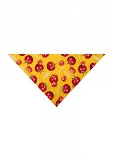 """Dámska šatka žltá s motívom """"paradajky"""""""