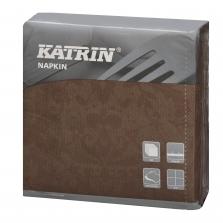116236 Katrin DecoSoft Victorian mocca 40x40, Servítky DecoSoft