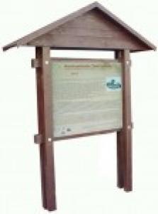 Dřevěný stojan na informační tabuli, informační panel