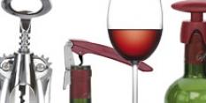 Výrobky pro podávání vína