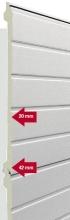 Sekční průmyslová vrata vrata dvoustěnná tepelně izolovaná
