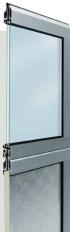Průmyslová sekční vrata hliníková tepelně izolovaná