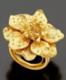 Zlatý květinový prsten Kenneth Jay Lane