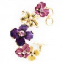 Květinový náramek s krystaly Swarovski a perlami Kenneth Jay Lane