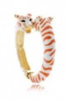 Bílo - korálový tygří náramek Kenneth Jay Lane