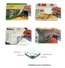 Reklamné podložky pod myš s kalendárom