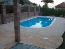 Bazénová dlažba z umělého pískovce