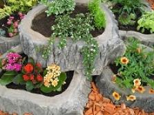 """Stone wood """"květináče"""""""
