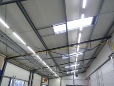 osvětlení ve výrpbní hale