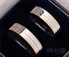 Snubní prsteny s briliantem