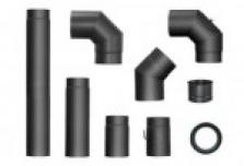Silnostěnné ocelové kouřovody černé, šedé
