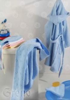 Detský župan modrý