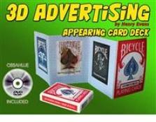 Objevení karetní hry z papírového letáku 3D Advertising