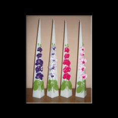 Sviečky ihlan s orchideou