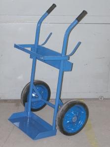 Vozík na prepravu plynových fliaš