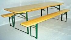 Stůl s lavicemi Standart stůl šíře 50cm