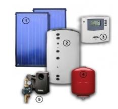 Solární sestava pro přípravu teplé vody a přitápění