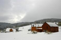 Chalupa Karolina a Vendula v zimě