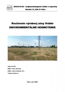 Posudzovanie vplyvov na životné prostredie - EIA