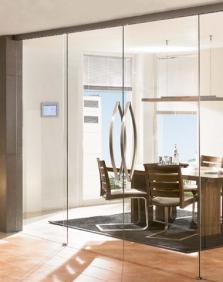 Skleněné atypické dveře - na míru stavebního otvoru