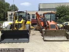 Prenájom stavebných strojov - traktorbager Fiat-Hitachi FB100