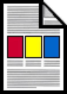 Tisk barevných letáků