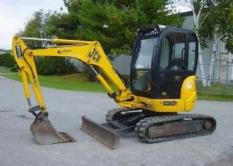 Práce se strojem JCB 8032