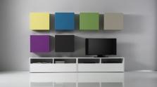 Obývací stěna Element-201 - AUBREY - rozměry 318x31 cm