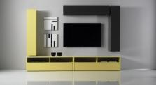 Obývací stěna Element-206 - AUBREY - rozměry 278x41 cm