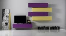 Obývací stěna Element-204 - AUBREY - rozměry 288x31 cm