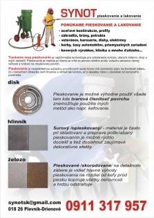 Pieskovanie, (tryskanie) a lakovanie ocele