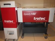 Laserové zaiadenie na originálnom podstavci a filter - zostava vhodná do obchodu
