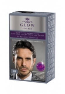 Kallos Glow farba na vlasy pre mužov nr. 10 čierna 40ml