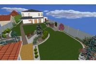 Projekt záhrady rodinného domu